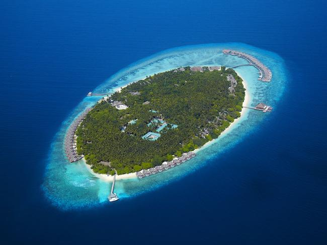 Dusit Thani Maledivy - letecký pohled