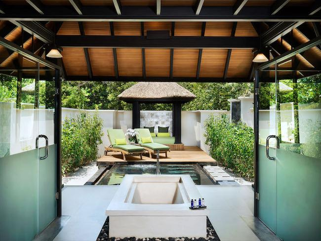 JA Manafaru - plážový bungalov, koupelna