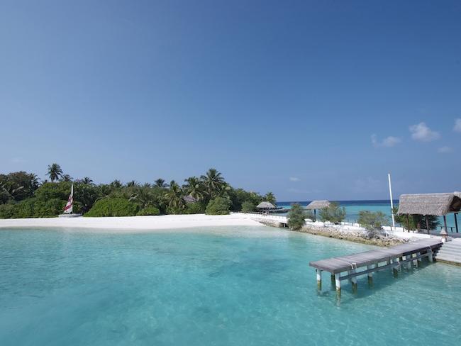 Makunudu island resort - příjezdové molo