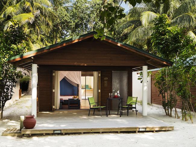 Meeru island resort - plážová vila s jacuzzi