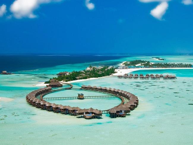 Olhuveli beach resort - letecký pohled