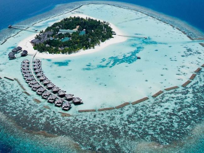 Vakarufalhi Maldives - letecký pohled